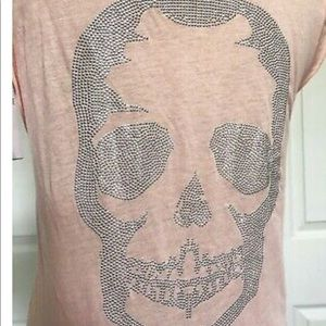 Zadig & Voltaire  Skull Top Pink  Tee  size s NWT